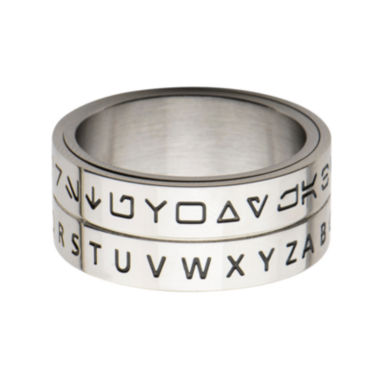jcpenney.com | Star Wars® Mens Stainless Steel Aurebesh Spinner Band