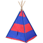 JCPenney Home™ Children's Blue & Red Striped Teepee Tent