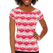 Worthington® Short-Sleeve Scoopneck Essential Tee - Petite