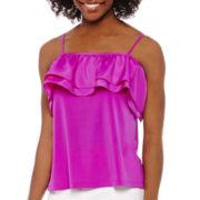 Worthington® Sleeveless Off-the-Shoulder Ruffled Blouse - Petite
