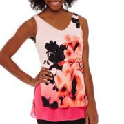 Worthington® Sleeveless Layered V-Neck Tank Top - Petite