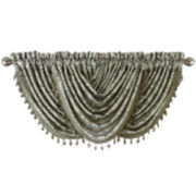Royal Velvet® Hilton Embroidery Rod-Pocket Waterfall Valance