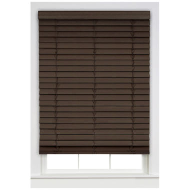 "jcpenney.com | Cordless Madera Falsa 2"" Faux Wood Horizontal Plantation Blinds"