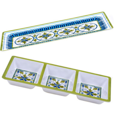 jcpenney.com | Certified International Blue Grotto 2-pc. Melamine Appetizer Set