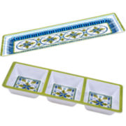 Certified International Blue Grotto 2-pc. Melamine Appetizer Set