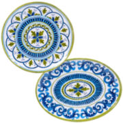 Certified International Blue Grotto 2-pc. Melamine Platter Set