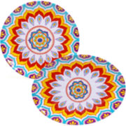 Certified International Akela 2-pc. Melamine Platter Set