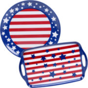 Certified International Stars & Stripes 2-pc. Melamine Platter Set