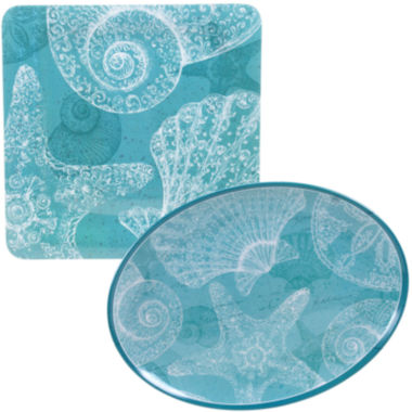 jcpenney.com | Certified International Aqua Treasures 2-pc. Melamine Platter Set