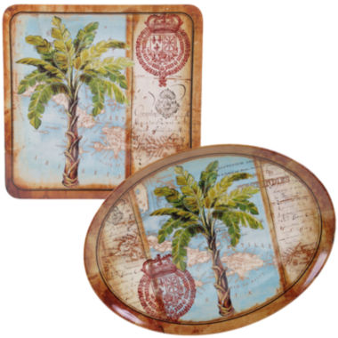 jcpenney.com | Certified International Antique Palms 2-pc. Melamine Platter Set