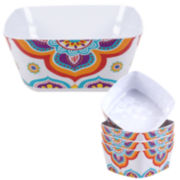 Certified International Akela 5-pc. Melamine Salad and Serving Bowl Set