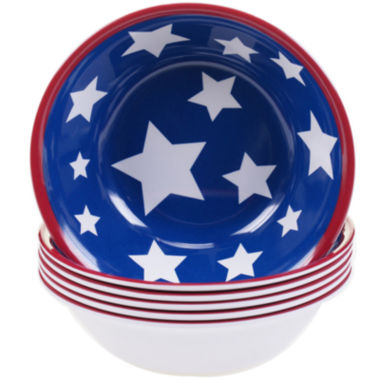 jcpenney.com | Certified International Stars & Stripes Set of 6 Melamine All-Purpose Bowls
