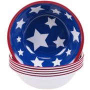 Certified International Stars & Stripes Set of 6 Melamine All-Purpose Bowls