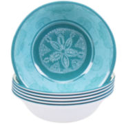 Certified International Aqua Treasures Set of 6 Melamine All-Purpose Bowls