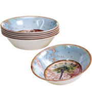 Certified International Antique Palms Set of 6 Melamine All-Purpose Bowls