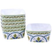 Certified International Blue Grotto Set of 6 Melamine Ice Cream Bowls