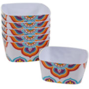 Certified International Akela Set of 6 Melamine Ice Cream Bowls