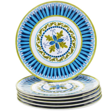 jcpenney.com | Certified International Blue Grotto Set of 6 Melamine Salad Plates