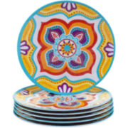 Certified International Akela Set of 6 Melamine Salad Plates