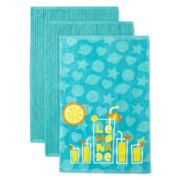 JCPenney Home™ Lemonade Set of 3 Kitchen Towels