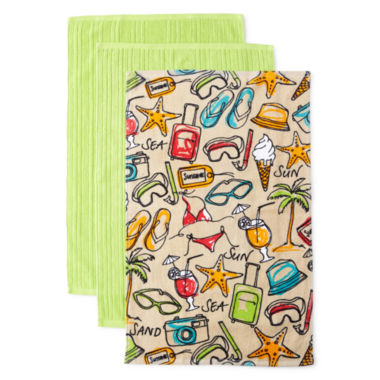 jcpenney.com | JCPenney Home™ Tropical Fun Set of 3 Kitchen Towels
