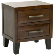 Christopher Knight Home Brighton Acacia Wood 2-Drawer Nightstand