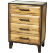 Christopher Knight Home Luna Acacia Wood 4-Drawer Chest