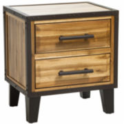 Christopher Knight Home Luna Acacia Wood 2-Drawer Nightstand
