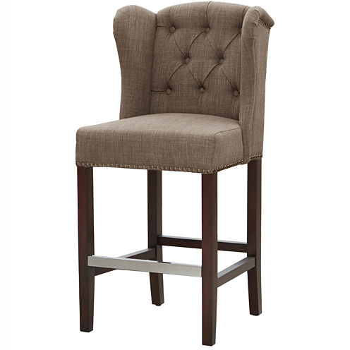 Madison Park Mia Tufted Wing Barstool