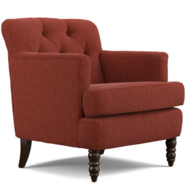 jcpenney.com | Elm Sangria Red Tufted Accent Chair