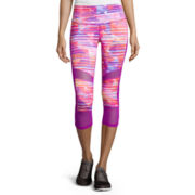 Xersion™ Shirred Mesh Mixed Capris - Tall