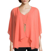Alyx® Woven Top with Necklace