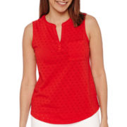 Liz Claiborne® Punched Cotton Tank Top
