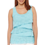 Liz Claiborne® Lace Tiered Tank Top