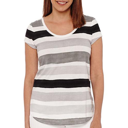 Liz Claiborne® Short-Sleeve Striped Tee - Tall