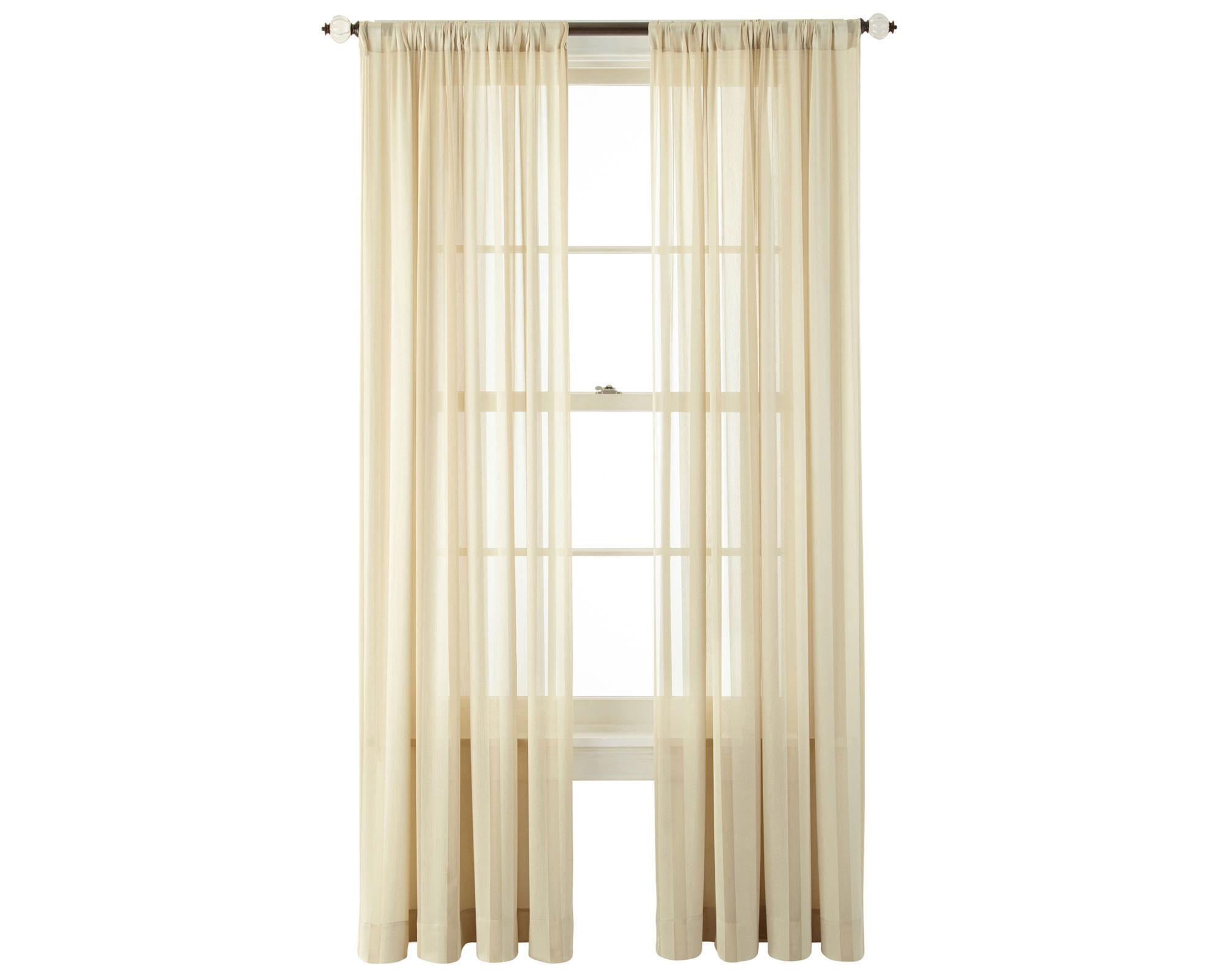 velvet cherise rod pocket sheer curtain panel royal velvet cherise rod ...