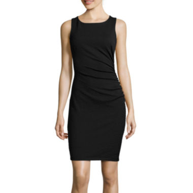 jcpenney.com | Bisou Bisou® Sleeveless Side-Ruched Sheath Dress