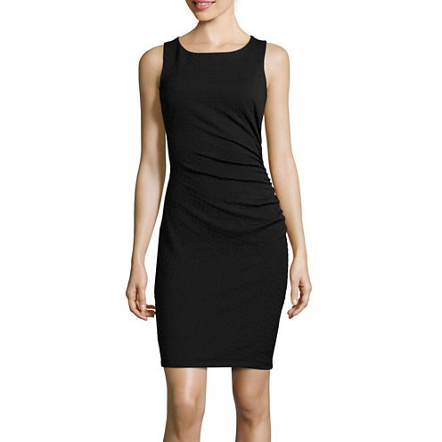 Bisou Bisou® Sleeveless Side-Ruched Sheath Dress