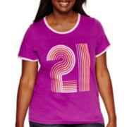 Arizona Short-Sleeve Graphic Tee - Juniors Plus