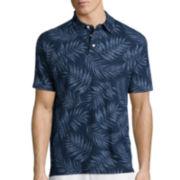 St. John's Bay® Short-Sleeve Print Cotton Polo