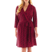 Liz Claiborne Long-Sleeve Faux-Wrap Dress - Plus
