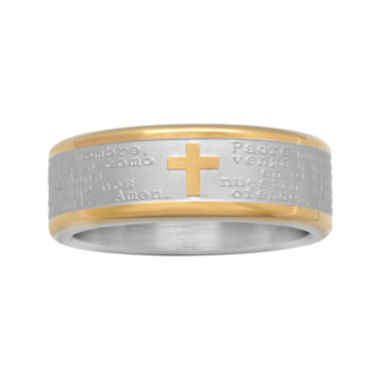 jcpenney.com | Spanish Lord's Prayer Band Stainless Steel
