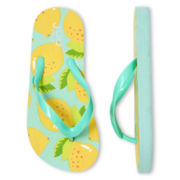 Joe Fresh™ Girls Tropical Print Flip Flops
