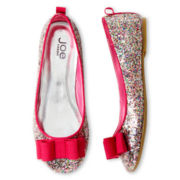 Joe Fresh™ Girls Glitter Bow Flats