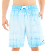 Speedo Dip-Dyed Plaid Swim Trunks