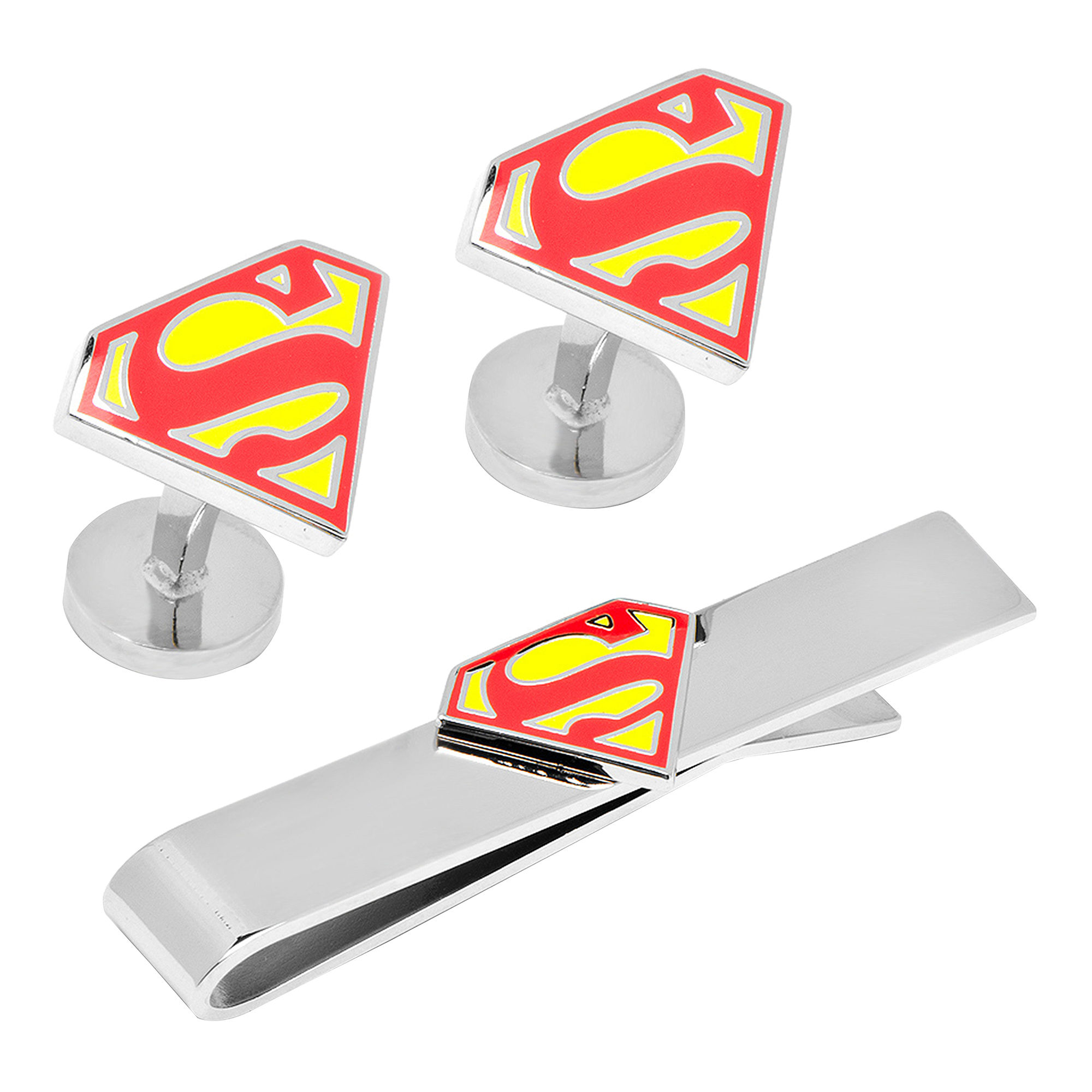 Superman™ Shield Tie Bar & Cuff Links Gift Set