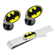 Batman™ Logo Tie Bar & Cuff Links Gift Set