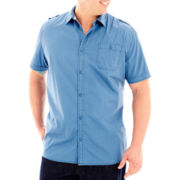 i jeans by Buffalo Maxime Short–Sleeve Woven Shirt–Big & Tall
