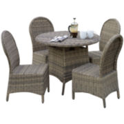 St. Maarten 5-pc. Wicker Outdoor Dining Set