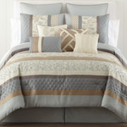 Home Expressions™ Napa 10-pc. Comforter Set & Accessories